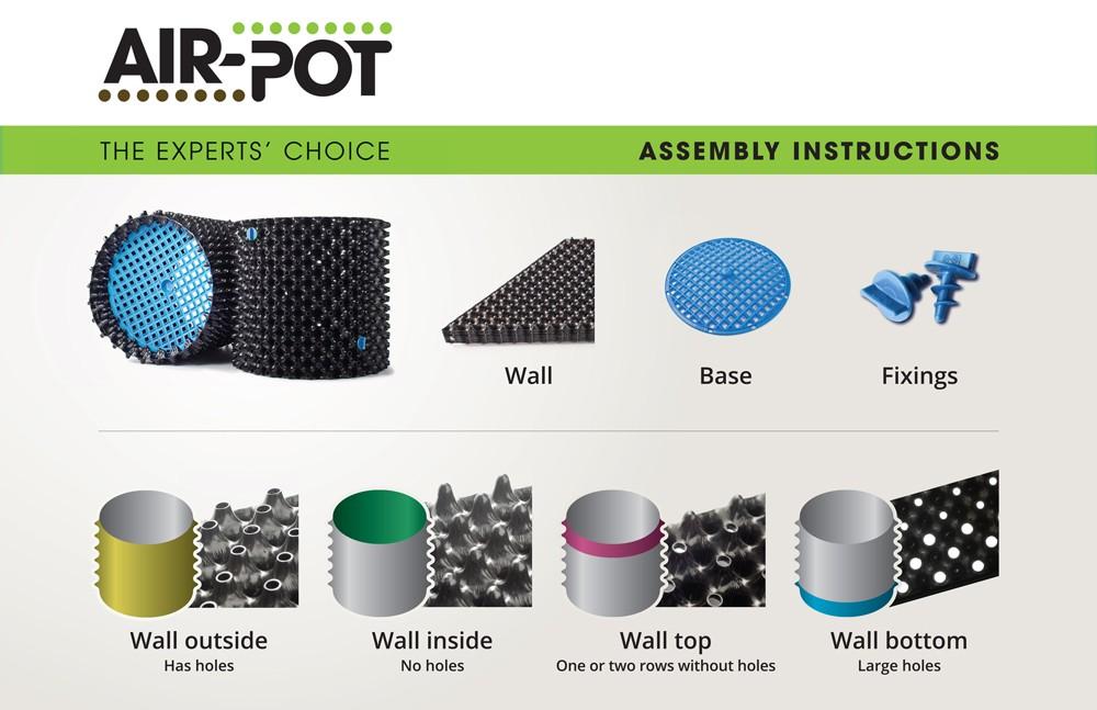 Vaso AIR-POT® KIT - 100% Plástico Reciclado ( várias medidas )