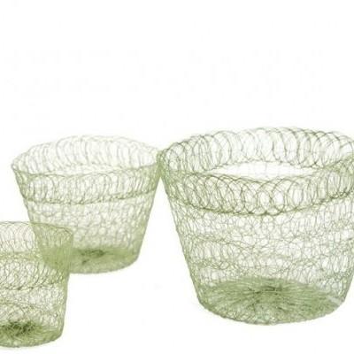 Vaso de malha biodegradável - 9 x 7 cm