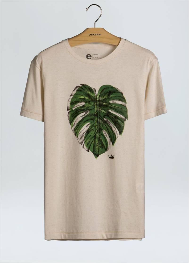 T-Shirt Cânhamo Duo Leaves OSKLEN
