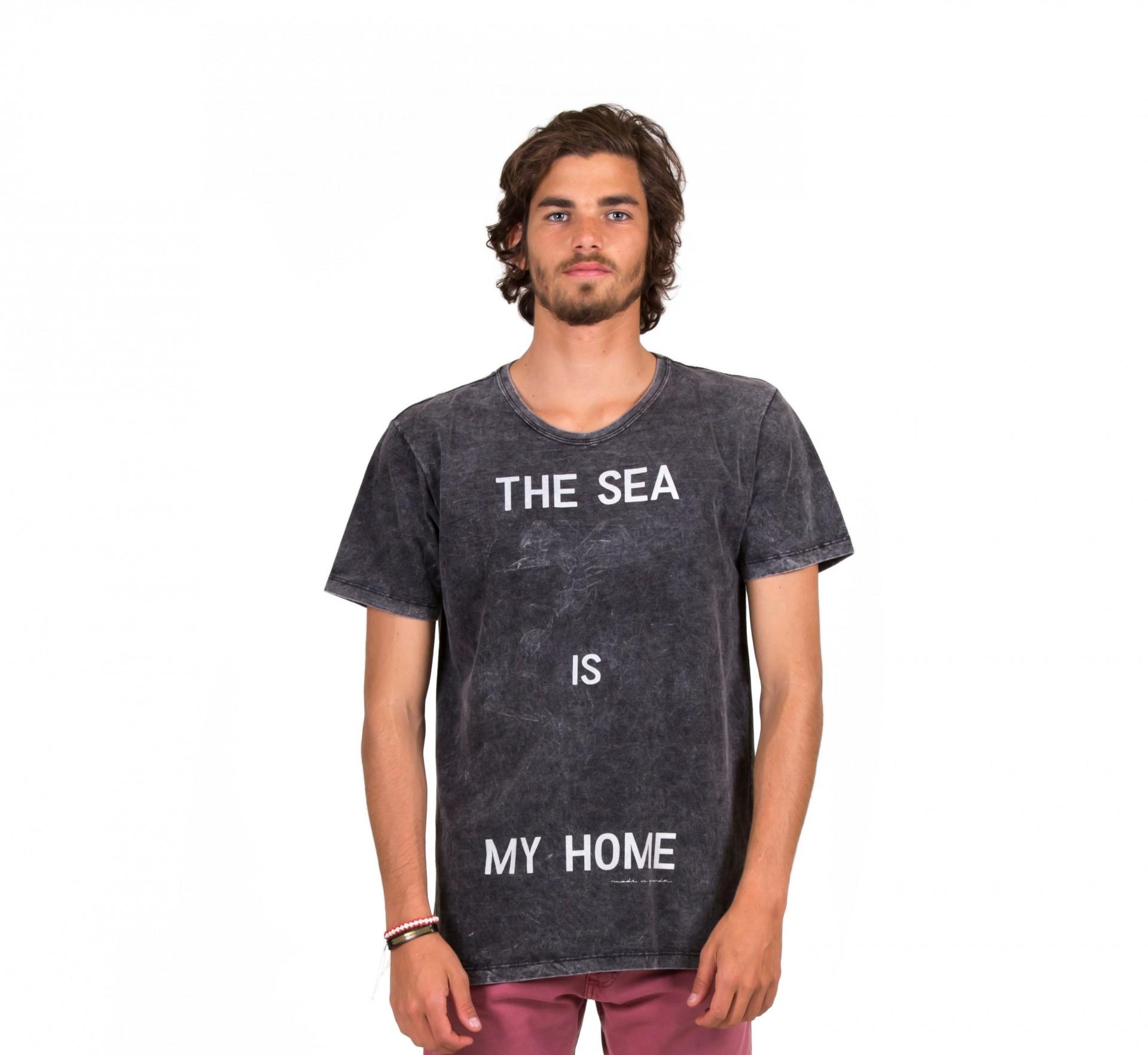 T-SHIRT MARMORIZADA SLIM THE SEA IS MY HOME MIG