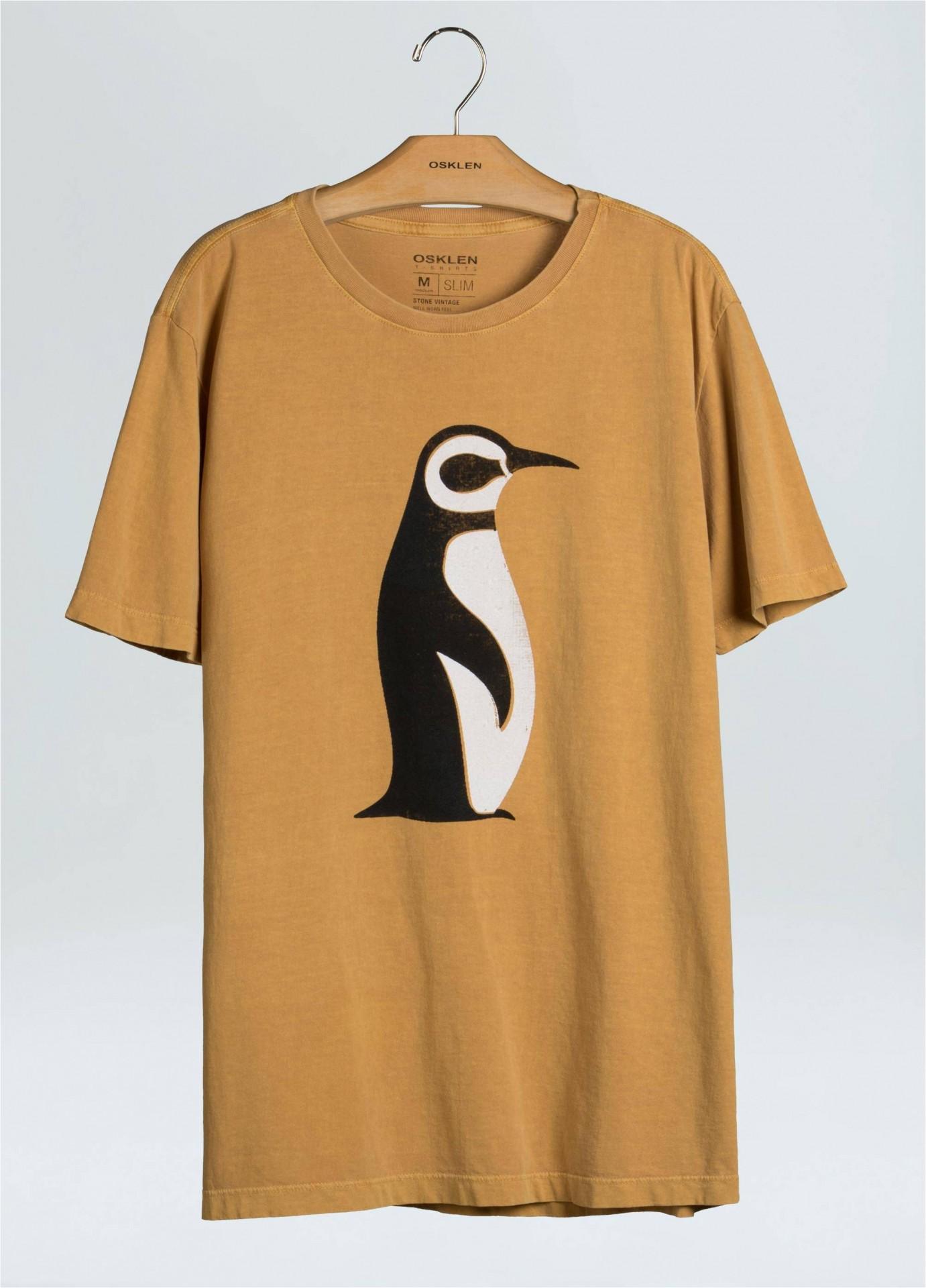 T-Shirt Masculina Stone Vintage Pinguim