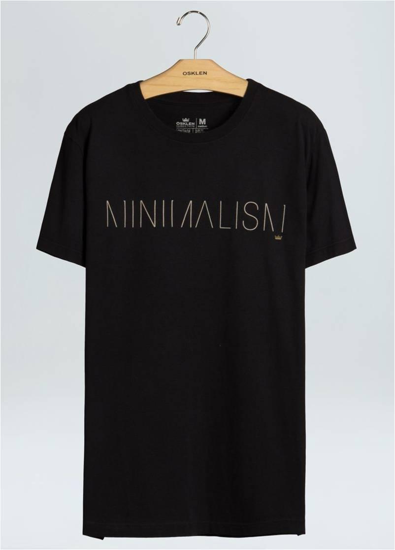 T-SHIRT VINTAGE BLACK MINIMALISM OSKLEN