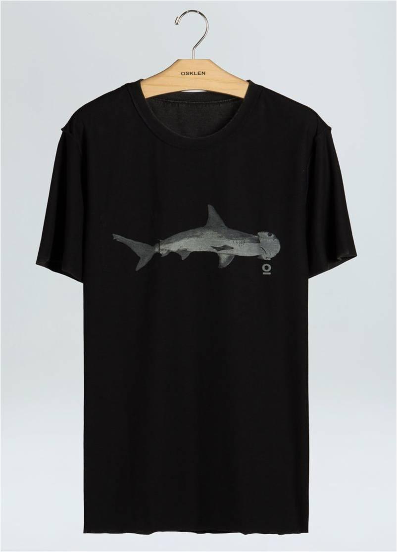 T-SHIRT DOUBLE ECO USED POCKET SHARK OSKLEN