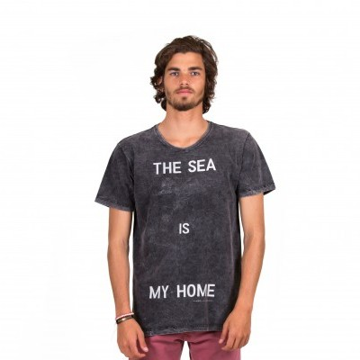 T-SHIRT MARMORIZADA SLIM THE SEA IS MY HOME MIG