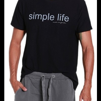T-SHIRT black SIMPLE LIFE MIG