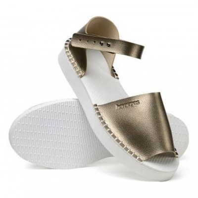 HAVAIANAS FLATFORM FASHION GOLDEN