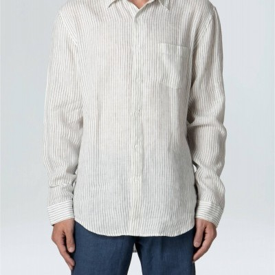 Camisa Masculina Linen Thin Stripes Ml