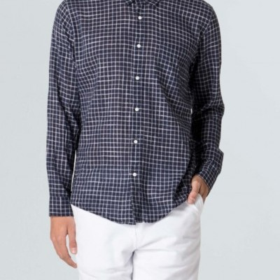 Camisa Masculina Rough Navy Plaid Ml