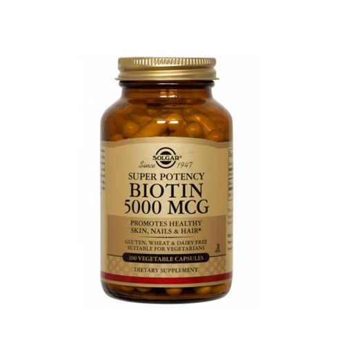 Biotina 5000ug 100 Cápsulas Solgar