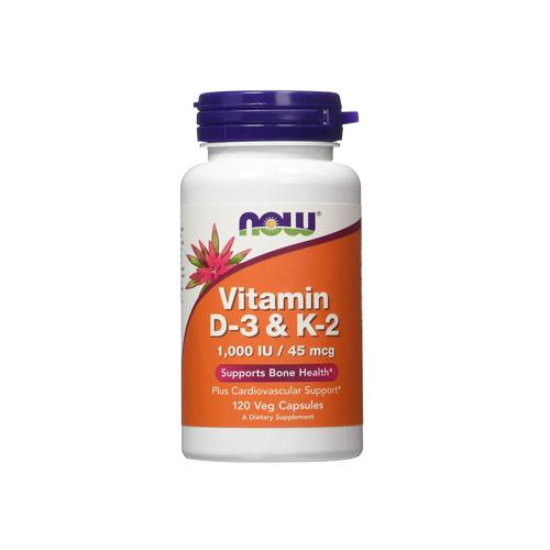 Vitamin D3 + K2 1,000 IU - 120 Cápsulas Now