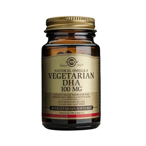 DHA 100mg Vegetariano - Natural Ómega 3 - 30 Cápsulas Solgar