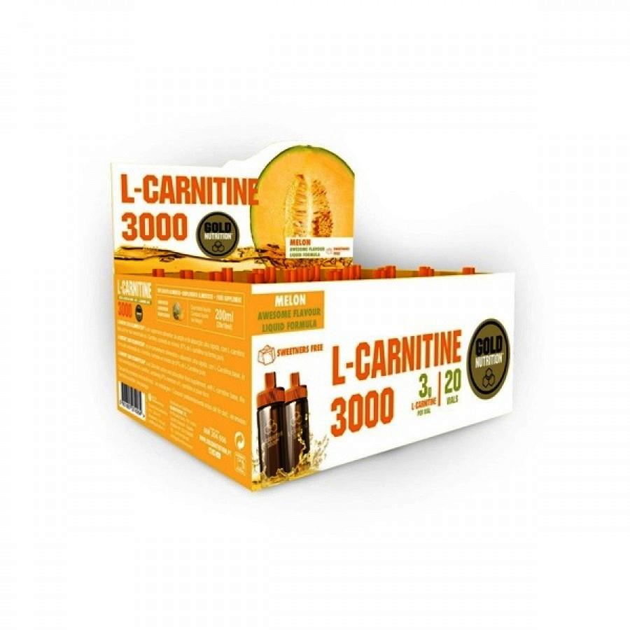 L-Carnitine 3000 Melão 20 Ampolas Gold Nutrition