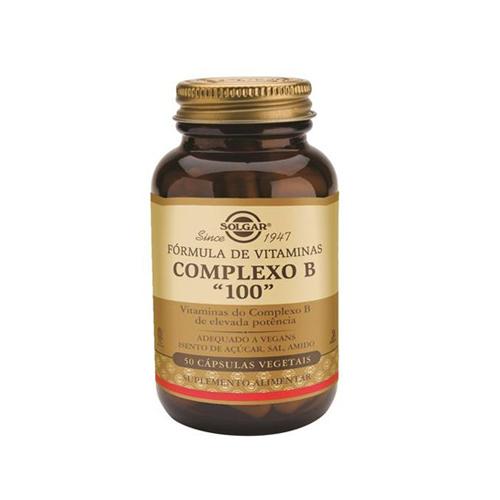 """Complexo B """"100"""" - 50 Cápsulas Solgar"""