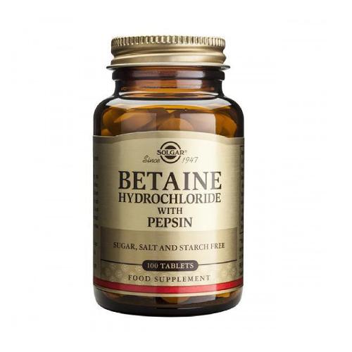 Hidrocloreto de Betaína com Pepsina 100 Comprimidos Solgar