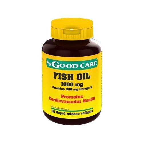 Fish Oil 1000mg 50 Cápsulas Good Care