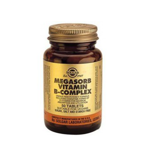 Megasorb Vitamin B-Complex 50 Comprimidos Solgar