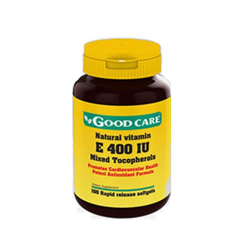 Vitamina E Natural 400IU - 100 Cápsulas Good Care