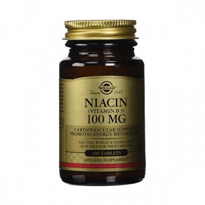 Niacina 100mg - Vitamina B3 100 Comprimidos Solgar