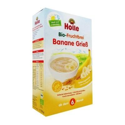 Papa Bio Banana e Semolina 6M+ 250g Holle