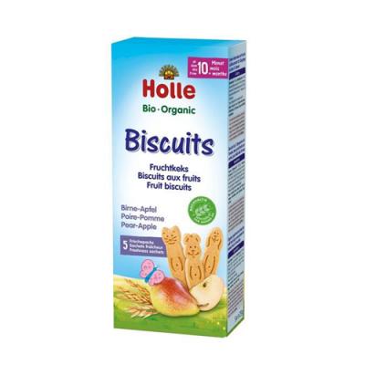 Holle Bio Biscoitos Maçã Pêra 10M - 5 Biscoitos
