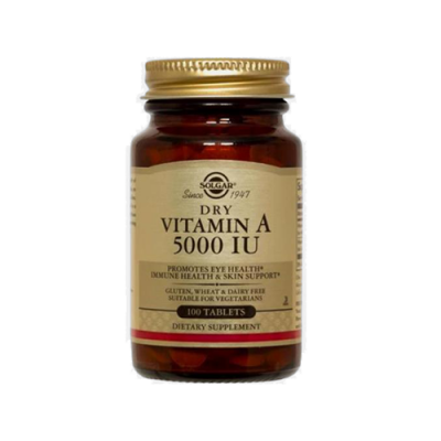 Vitamina A 5000IU - 100 Comprimidos Solgar