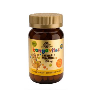 Kangavites Vitamina C 100mg - 90 Comprimidos Mastigáveis Solgar