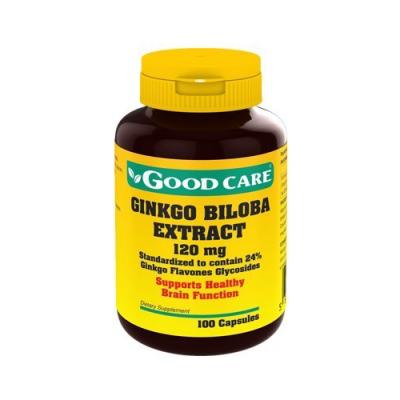 Ginkgo Biloba Extract 120mg 100 Cápsulas Good Care