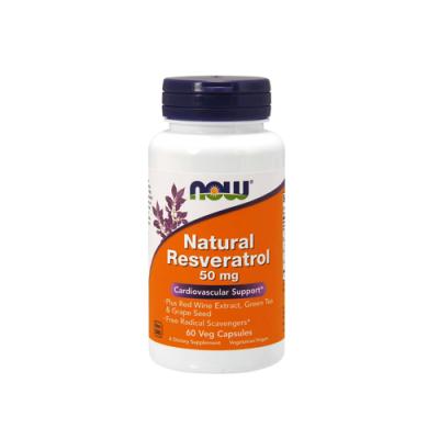 Natural Resveratrol 50mg - 60 Cápsulas Now