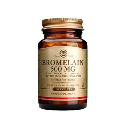 Bromelaína 500mg 30 Comprimidos Solgar