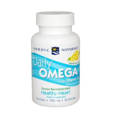 Daily Omega 3 + Vitamina D3 30 Cápsulas Nordic Naturals