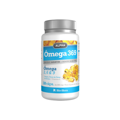 Alpha Omega 3, 6 e 9 - 110 Cápsulas Bio-Hera