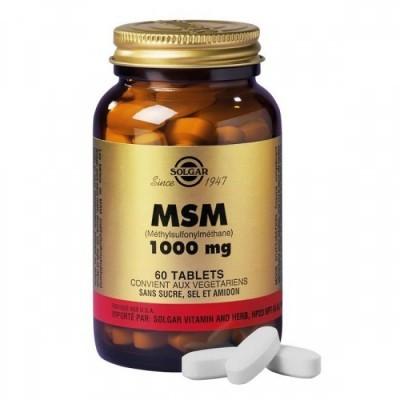 MSM (Metilsulfonilmetano) 1000mg 60 Comprimidos Solgar