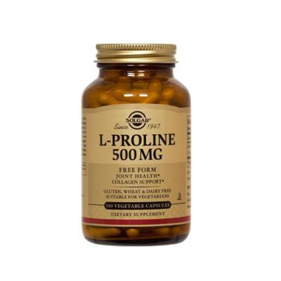 L-Prolina 500mg - 100 Cápsulas Solgar