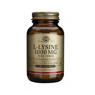 L-Lisina 1000mg - 50 Comprimidos Solgar