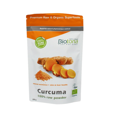 Cúrcuma Raw Powder 200gr Biotona