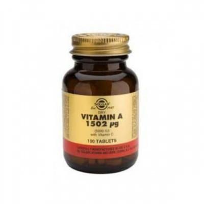 Vitamina A 1502ug com Vitamina C 100 Comprimidos Solgar