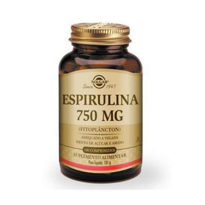 Espirulina 750mg 100 Comprimidos Solgar