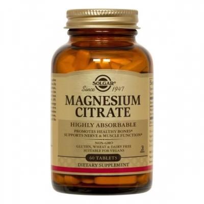 Citrato de Magnésio 60 Comprimidos Solgar
