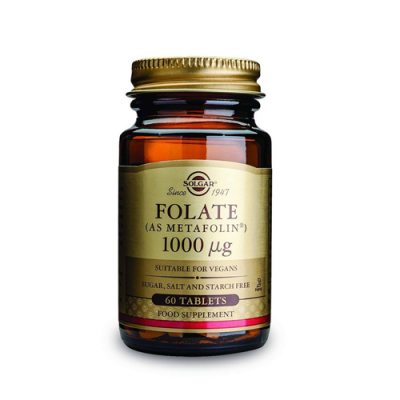 Folate Metafolin 1000ug 60 Comprimidos Solgar