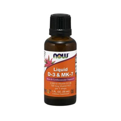 Liquid Vitamin D3 + MK7 - 30ml Now