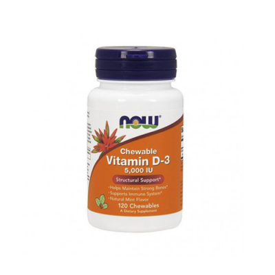 Chewable Vitamin D3 5,000 IU - 120 Cápsulas Now