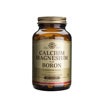 Cálcio Magnésio Boro 100 Comprimidos Solgar