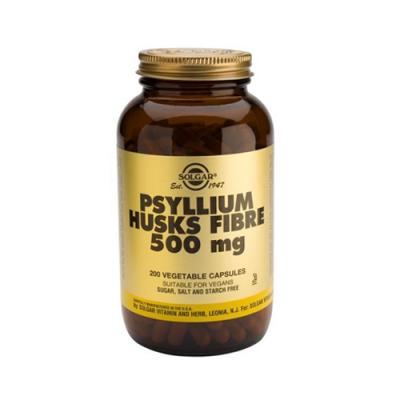 Fibra de Psílio em Pó 500mg - 200 Cápsulas Solgar