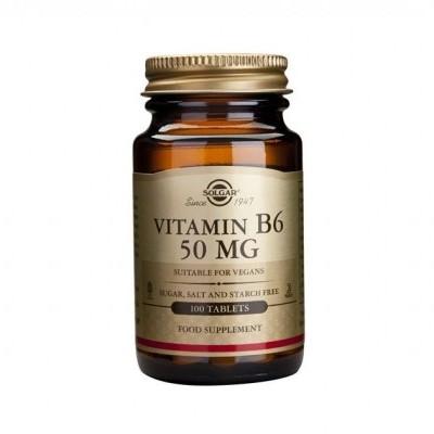 Vitamina B6 50mg 100 Comprimidos Solgar