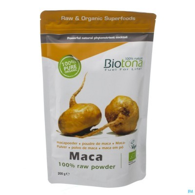 Maca em Pó Bio 100% Raw Powder 200g Biotona
