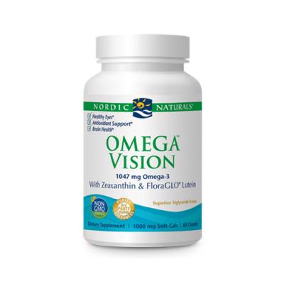 Omega Vision 1460mg DHA + Luteina + Zeaxanthin 60 Cápsulas Nordic Naturals