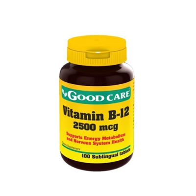 Vitamin B12 2500mcg - 100 Comprimidos Good Care