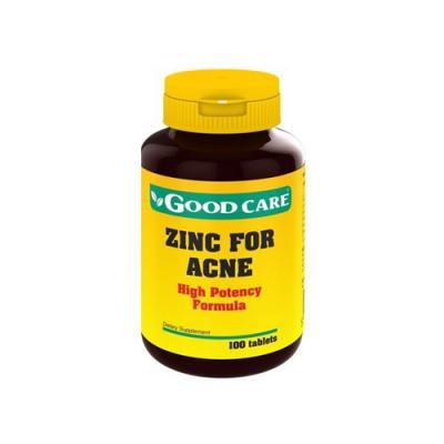 Zinco para Acne 100 Comprimidos Good Care