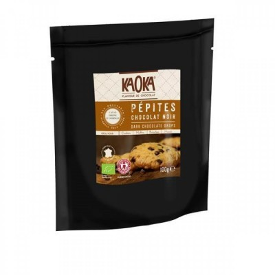 Pepitas Chocolate Preto 50% Cacau Bio Fair Trade 100g Kaoka