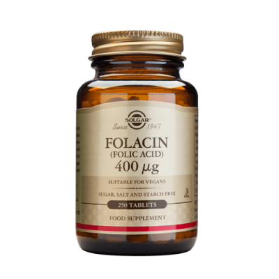Ácido Fólico 400ug 100 Comprimidos Solgar